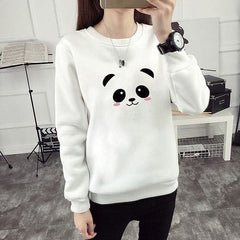 White Panda Printed Sweatshirt
