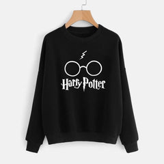 Black Harry Potter Printed Sweatshirt