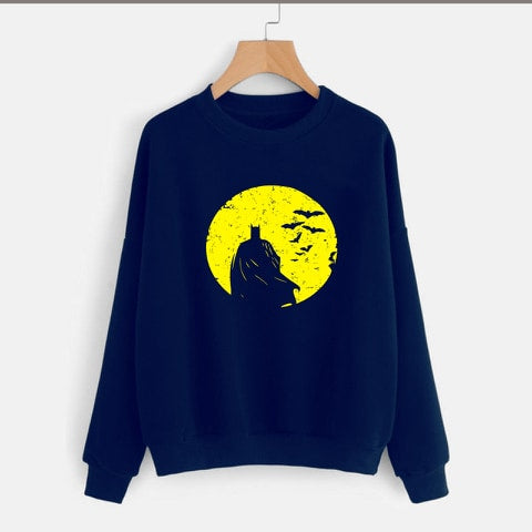 Navy Blue Batman Printed Sweatshirt