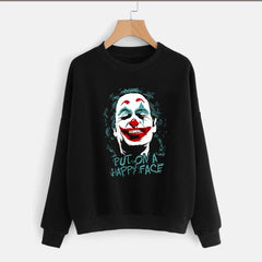 Black Joker Printed Sweatshirt