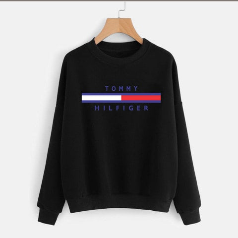 Black Tommy Hilfiger Printed Sweatshirt