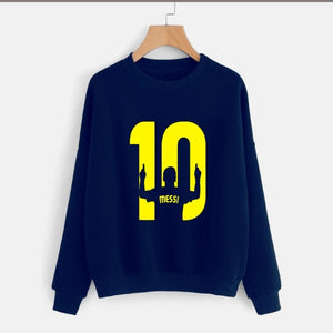 Navy Blue Messi Printed Sweatshirt