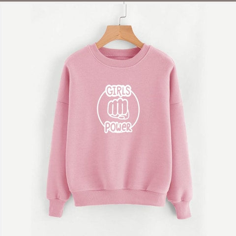 Baby Pink Girl Power Sweatshirt