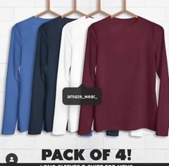 Pack of 4 Full Sleeves T-shirts