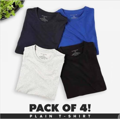 Pack of 4 Half Sleeves T-shirts