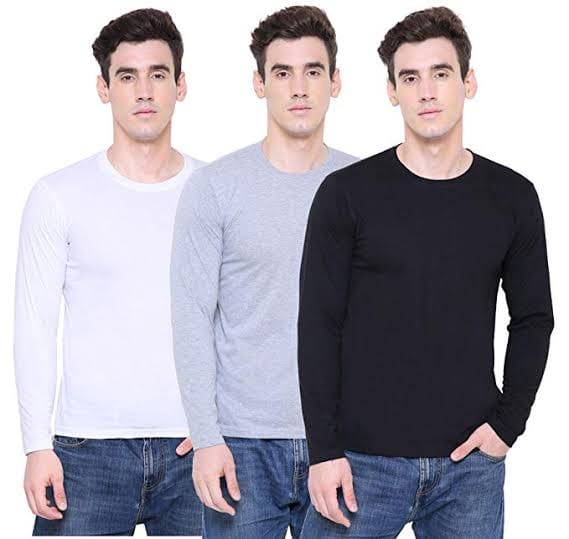 Pack of 3 Full Sleeves T-shirts