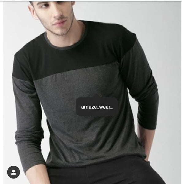 Double Color Full Sleeves Stylish T-shirt