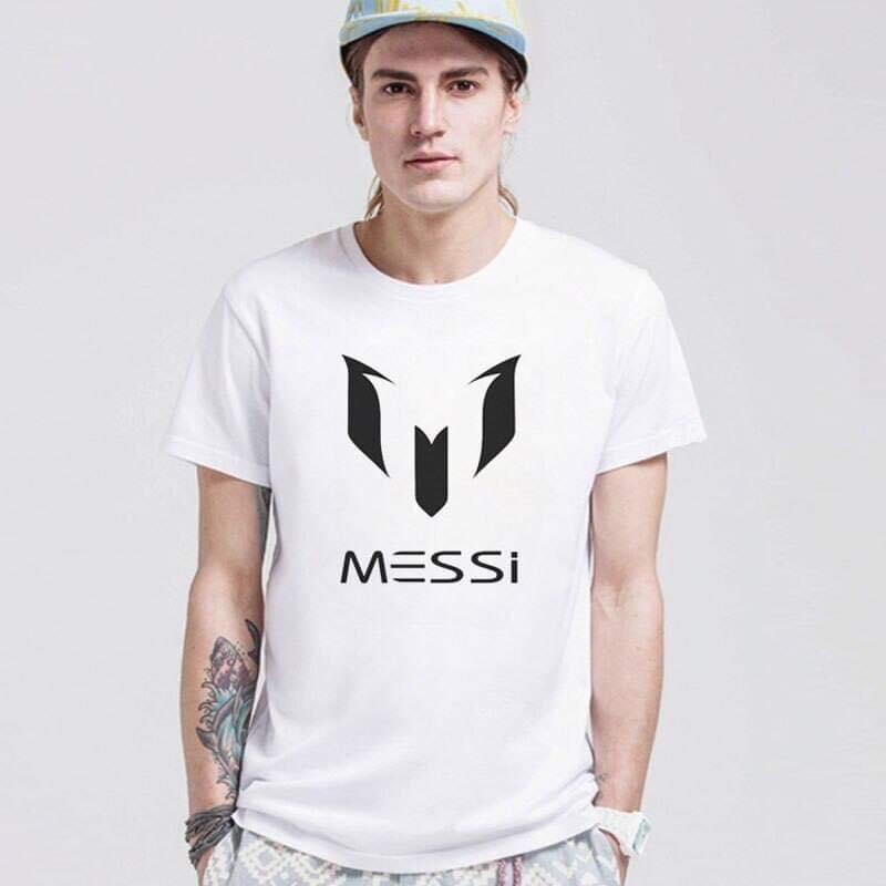White Half Sleeves Printed T-shirt