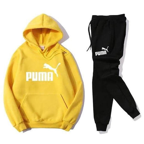 Yellow Puma Printed Tracksuit