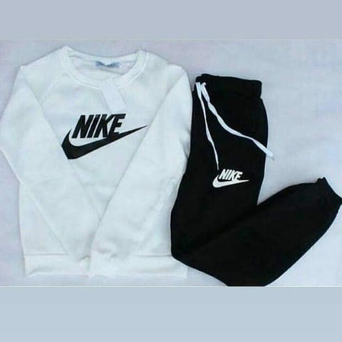 Black and White Nike Printed Tracksuit