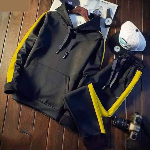 Black Yellow Striped Tracksuit