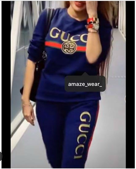 Navy Blue Gucci Tracksuit