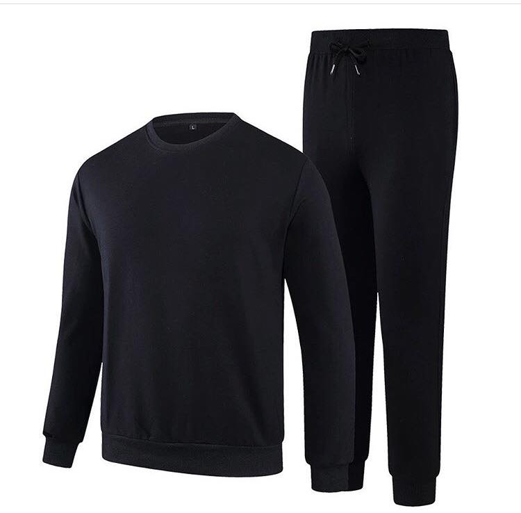 Jet Black Plain Tracksuit