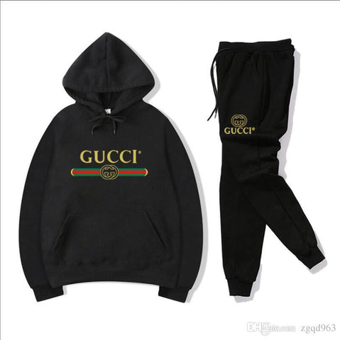 Black Gucci Printed Tracksuit