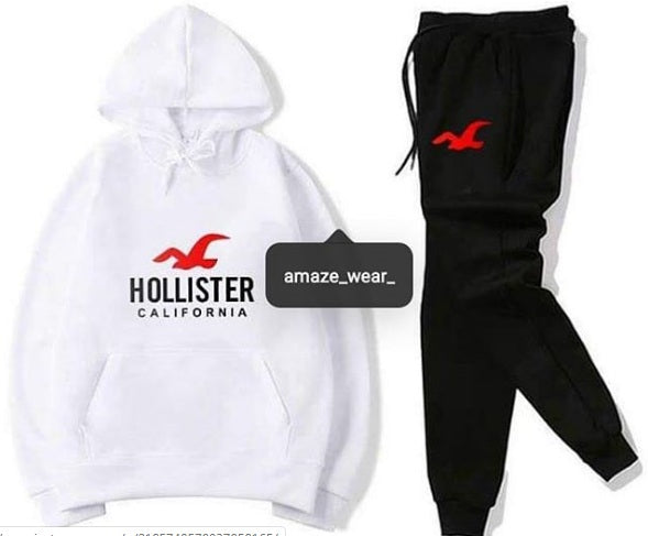 Black and White Hollister Printed Tracksuit