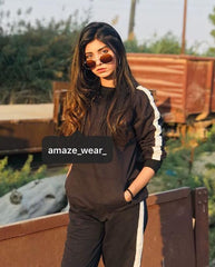 Black Side Striped Tracksuit