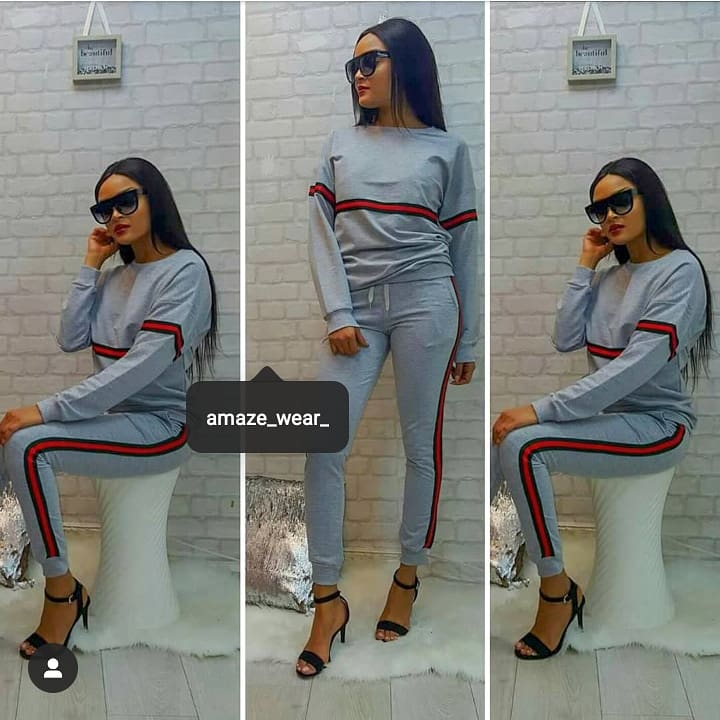 Grey Front and Side Striped Tracksuit