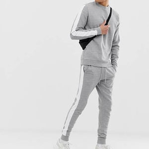 Grey Side Striped Tracksuit