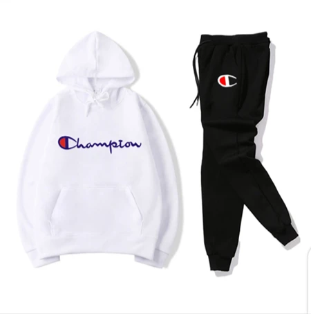 Black and White Champion Tracksuit