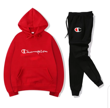 Black and Red Champion Tracksuit
