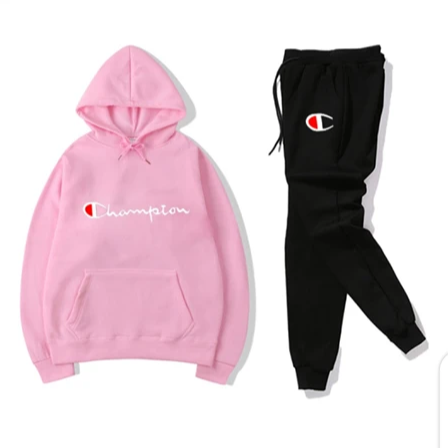 Black and Pink Champion Tracksuit