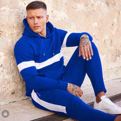 Blue Front Striped Tracksuit