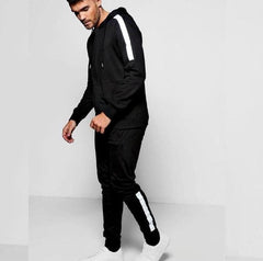 Black White Side Striped Tracksuit