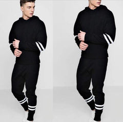 Black Striped Tracksuit