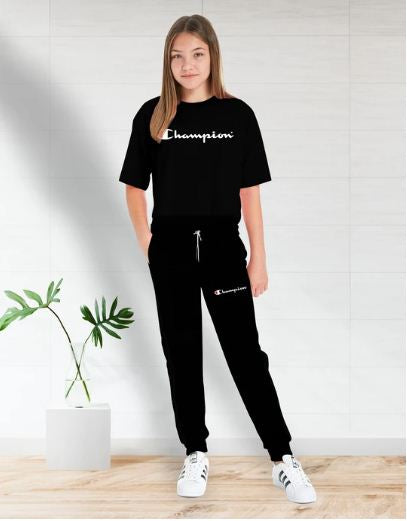 Black (Champion) Printed Summer Tracksuit