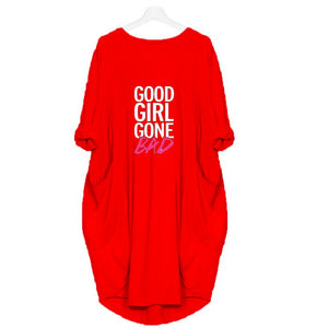 Red Long (GOOD GIRL GONE BAD) Printed T-shirt