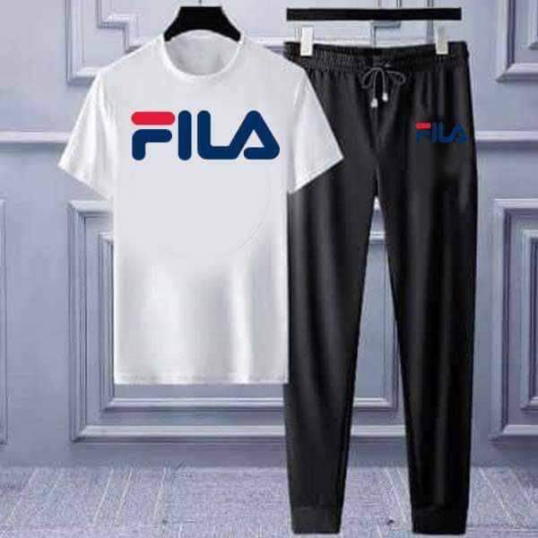 White T-shirt & Trouser (FILA) Printed Summer Set