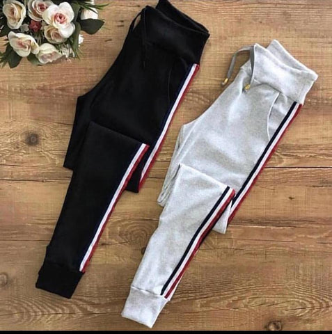 Side Strips Summer Trousers