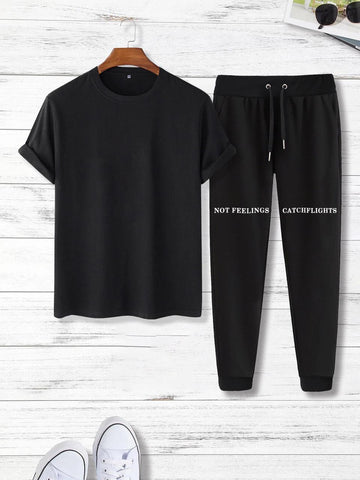 Bundle Of 2 Printed Tee And Trouser Tracksuit