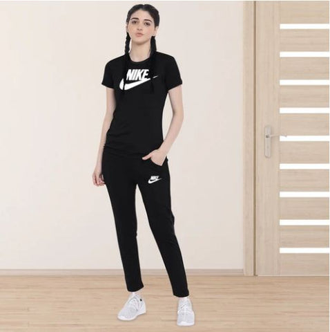 Black (Nike) Printed Summer Tracksuit