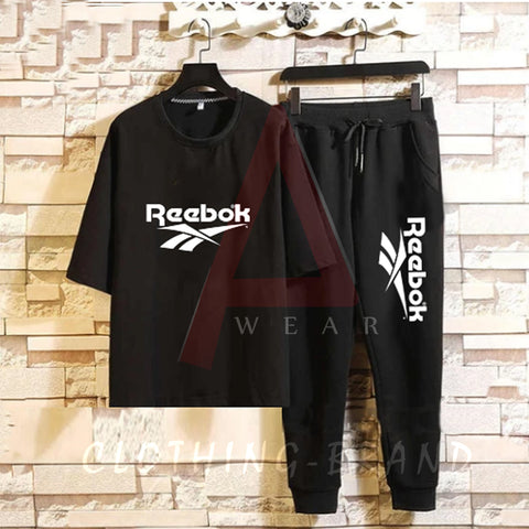 Black Summer Printed Tracksuit