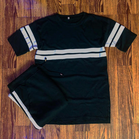 Black Striped Summer Tracksuit