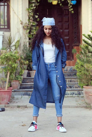Denim Long Coat