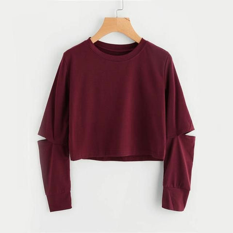 Maroon Summer Crop Top