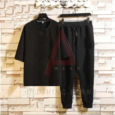 Black T-shirt And Black Trouser Summer Set