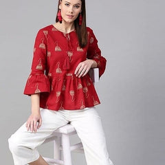 Red Stylish Short Top