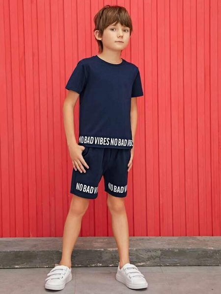 Kids Navy Blue Summer Tracksuit