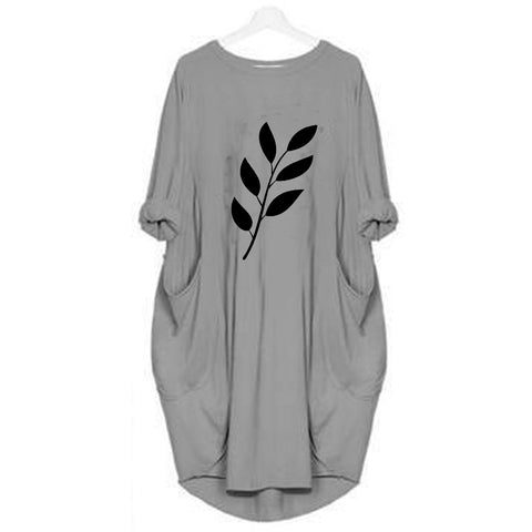 Hazel Grey Long Leaf T-shirt