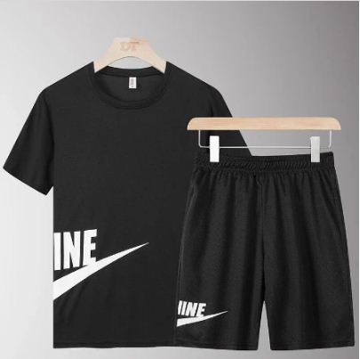 Black Side Nike Printed Summer Set
