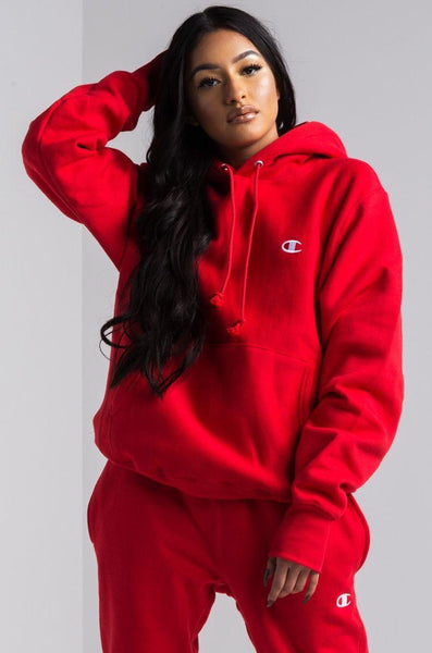 Red Printed Winter Tracksuit
