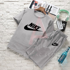 Hazel Grey Tee And Short Summer Set
