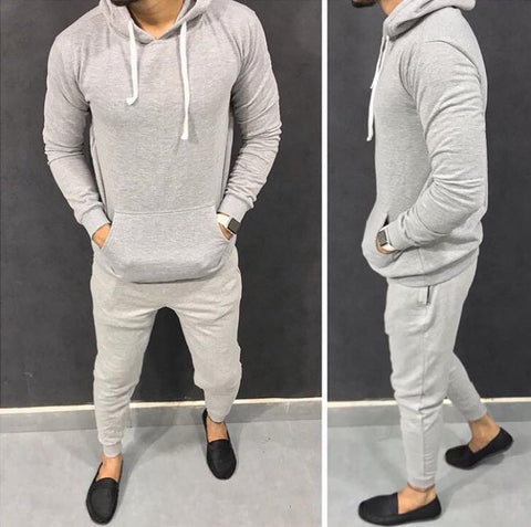 Grey Plain Tracksuit