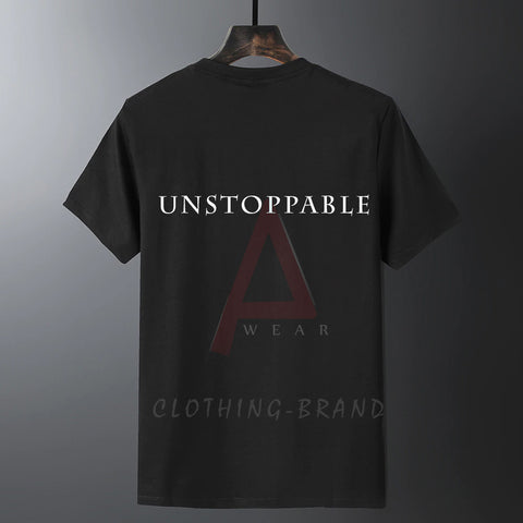 Black Half Sleeves Unstoppable Customize T-shirt