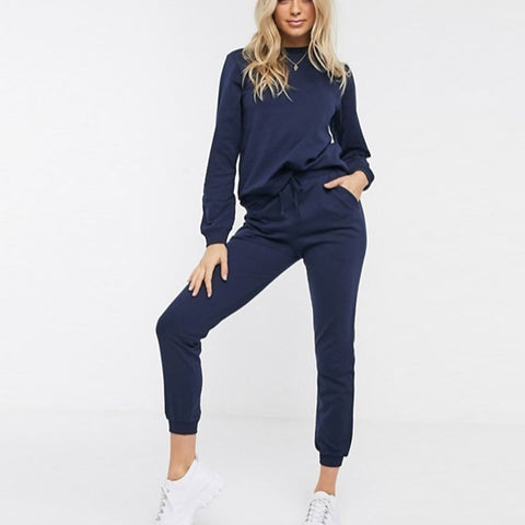 Navy Blue Plain Summer Tracksuit