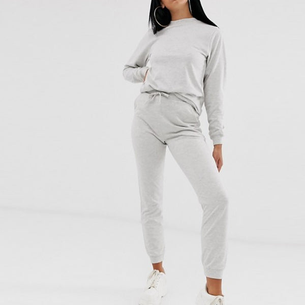Grey Plain Summer Tracksuit
