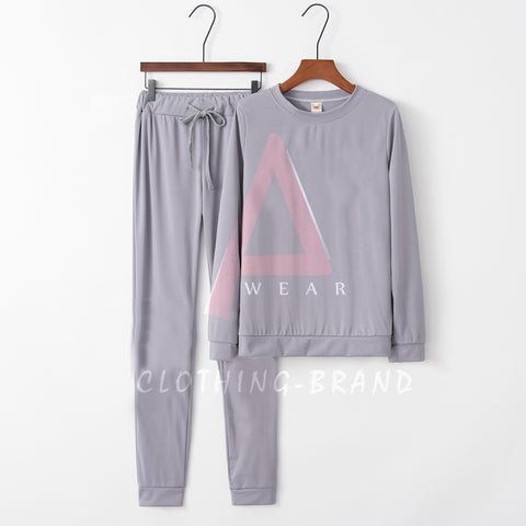 Grey Summer Plain Tracksuit